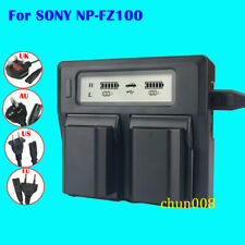 Dual LCD Fast Quick Charger for SONY NP-FZ100 Battery BC-QZ1 A9 A7RM3 A7R III
