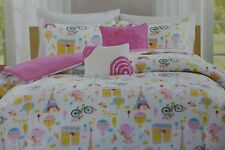 5 pc OYO PARIS Full Comforter, Shams, & Decorative Pillows Set NIP