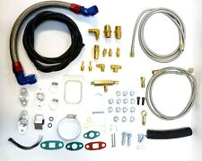 OBX Braided Oil Feed Line Pipe For 93 94 95 96 97 Honda Civic Del Sol Si 1.6L