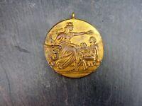 alte Bronze Medaille Gesang Wettstreit Odenkirchen 1908 Musik Sammlerstück