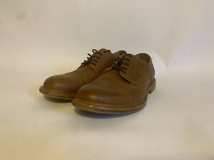 Men's Brown Leather Merona Lace Up Dress Shoes Size: 9.5 F16901731-07/16