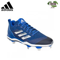 Adidas Power Alley 5 Men's Low Metal Baseball Cleats / Blue Size 10 (B39184)
