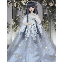1/3 Ball Jointed Girl BJD Doll + Face Makeup + Changeable Eyes + Dress BJD Puppe