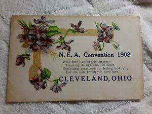 1908 N.E.A. (National Education Association) Convention Cleveland Ohio Postcard