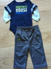 Under Armour Outfit Baby Toddler Size 3-6 Months Gray Blue Like Green