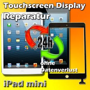 24 St. iPad mini Display Reparatur Touchscreen Digitizer Glas  Schwarz