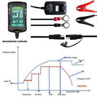 Caricabatterie Batteria Per Moto Auto Mantenitore Di Carica 1.5A 12V Con Cavetti