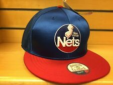 Sz 7 1/4 New NWT Vintage NBA New Jersey Nets Fitted Cap Red Blue Hardwood