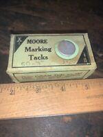 Vintage Moore Marking Tacks, Thumbtacks,Marker Tacks.Celluloid Covered!