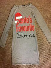 Santa Christmas favourite blonde boohoo nightie dress long top