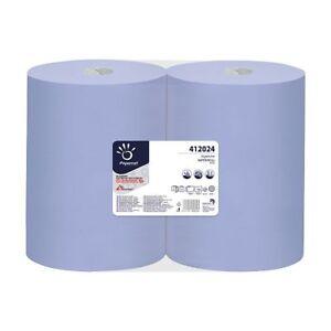 2x Putzrollen 38 x 36cm Papier-Rolle blau Putzpapier 1000 Blatt 412024