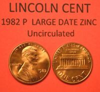 1982 P Large Date Zinc Lincoln Cent Penny Uncirculated