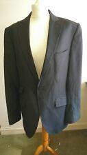 Mens Suit Jacket Black Striped 40 R Torre Wedding Party
