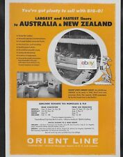 ORIENT LINE LARGEST & FASTEST LINERS TO AUSTRALIA JOEY ORSOVA BIG O 1957 AD