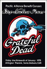 GRATEFUL DEAD No Nukes Benefit 1978 Concert Poster