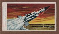 'Bloodhound' British Anti-Aircraft Missle Vintage Ad Trade Card