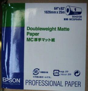 1 Rolle Epson Doubleweight Matte Paper Druckerpapier MCSP64R4 1626mmx25m NEU