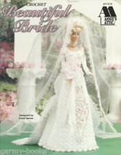 Beautiful Bride Annie's Attic Crochet Fashion Doll Wedding Dress Patterns NEW