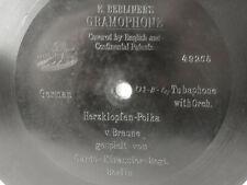 """78rpm E. BERLINER GRAMOPHONE 7"""" - HERZKLOPFEN-POLKA - Garde Kürassier Regiment"""