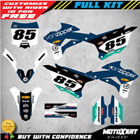 Custom Graphics, Full Kit for Kawasaki KX 85 2014 - 2020 FLOW Style stickers