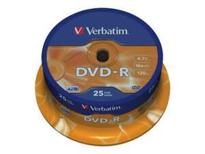 Verbatim DVD-R 16x Speed - 25 Pack Spindle