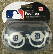 2 Pack MLB Detroit Tigers Pacifier Set 3 months and up