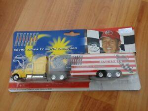 1/87 MICHAEL SCHUMACHER COLLECTION F1 MALAYSIA GP FERRARI CAR TRANSPORTER TRUCK