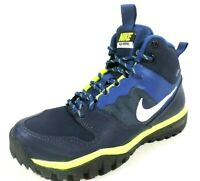 Nike Fusion Hills Mid GS 685621 400/001 Black Blue Leather Outdoors Boys Shoes