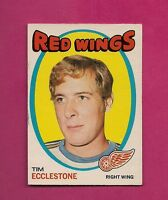 1971-72 OPC # 52 RED WINGS TIM ECCLESTONE  EX-MT CARD  (INV#1864)