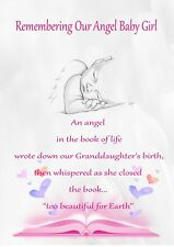 Angel Baby  Purse Wallet Card  Memorial Keepsake no b50a