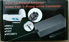 EvaPlus 42V 2A Power Adapter 3 Prong Inline Connector PowerFast For E-scooters