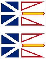 2x Adhesivo adesivi pegatina sticker bandera canada terranova y labrador