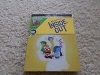 Disney Pixar Inside Out SteelBook - 4k Ultra HD, Blu-Ray, Digital Code - New