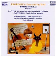 Peter & The Wolf Prokofiev, Saint-Saens, Britten Audio CD