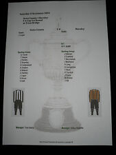 1893-94 F A Cup 1st Round Notts County v Burnley Matchsheet
