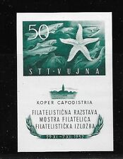 YUGOSLAVIA-TRIESTE Sc 65a NH ISSUE OF 1952 - SOUVENIR SHEET