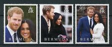 Bermuda 2018 MNH Prince Harry & Meghan Royal Wedding 3v Set Royalty Stamps