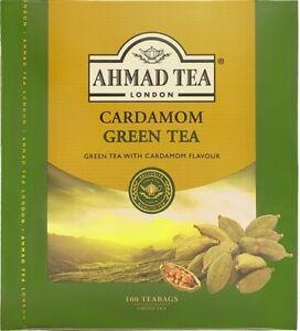 300  Ahmad Cardamom Green Tea Bags  (3 Boxes Of 100 ) **** Free Post *****