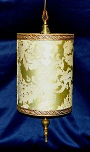 Vintage gold drum Pendant Light Lamp Shade