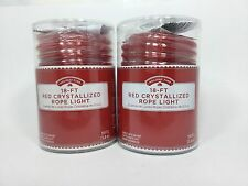 Red Rope Crystallized 36 Foot Total Holiday Christmas Outdoor Waterproof Lights