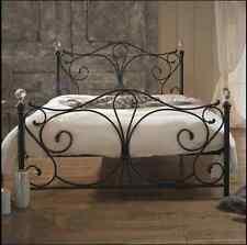 NUOVA Grande telai LETTO KING SIZE in metallo telaio del letto Kingsize univoco Letti sonno in acciaio