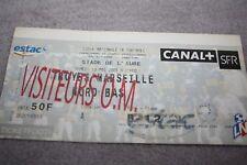 TICKET )) ESTAC TROYES V MARSEILLE OM )) Saison 2000/2001