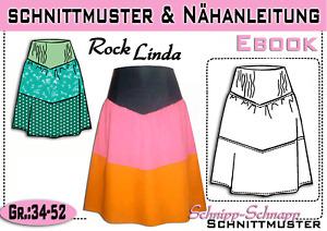 "pdf.Schnittmuster Rock ""Linda"" Gr.:34-52"