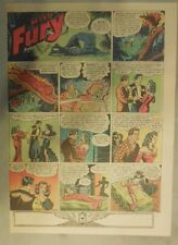 Miss Fury Sunday by Tarpe Mills from 1/10/1943 Tabloid Page Size!  Very Rare!