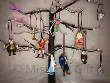 Disneys Beauty And The Beast Set Of 10 childrens christmas tree decorations