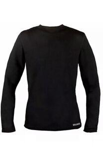 "😀 Omni Wool Men's Base Layer Thermal Merino Wool Quick Dry Black Top XL ""NEW"""
