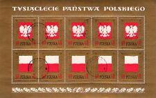 POLAND - POLSKA - RARO FOGLIETTO DI 10 FRANCOBOLLI - 1968