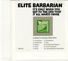 (EU175) Elite Barbarian, It's Only When You Get To The End ... - 2010 DJ CD