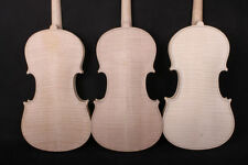 1pcs 4/4 violin unfinished handmade nice flame maple back Russian spruce top #V2