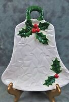 VTG LEFTON WHITE HOLLY BERRY BELL CANDY DISH #6074 1970/71 JAPAN
